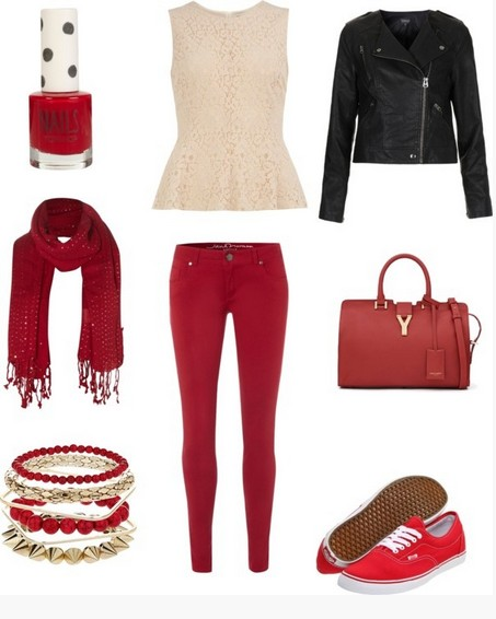 A Colletion of Hot Red Outfits From Casual to Formal - Pretty Desig