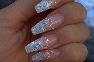 61 Acrylic Nail Designs For Fall and Winter | Prom nails, Coffin .