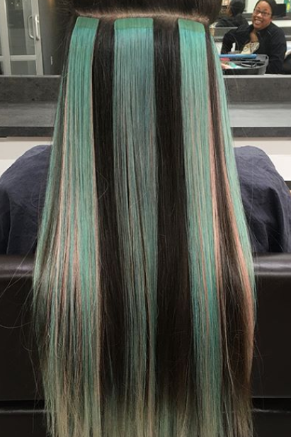 Add funky, fun, vibrant pops of color to your hair instantly .