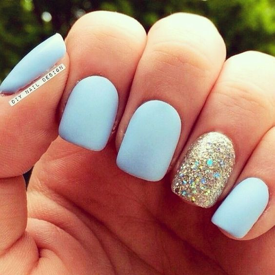 15 Adorable Disney Nail Art Ideas for Kids | Blue nails, Prom .