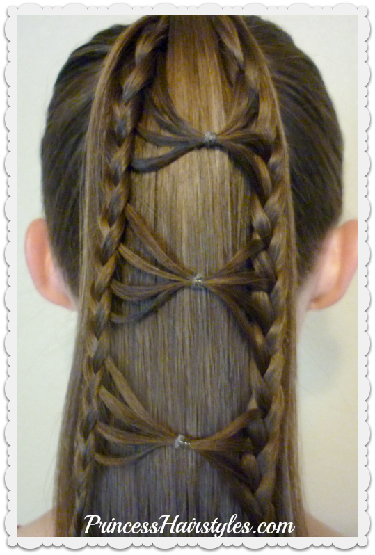 Bow Tie Braid Ponytail Hair Tutorial | Hairstyles For Girls .