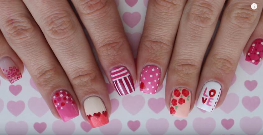 Adorable Nails Art for Valentine's Day