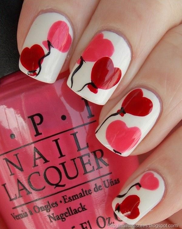 9 Adorable Nail Designs for Valentine's Day | Valentine nail art .