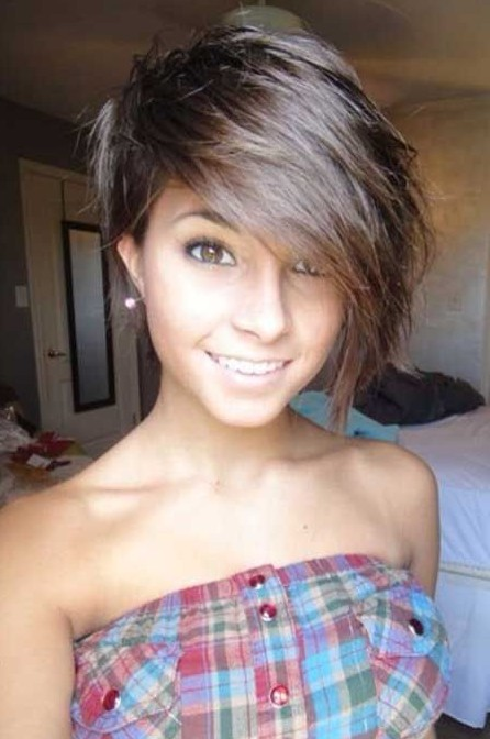 Adorable Short Haircut with Long Bangs for Girls - Hairstyles Week