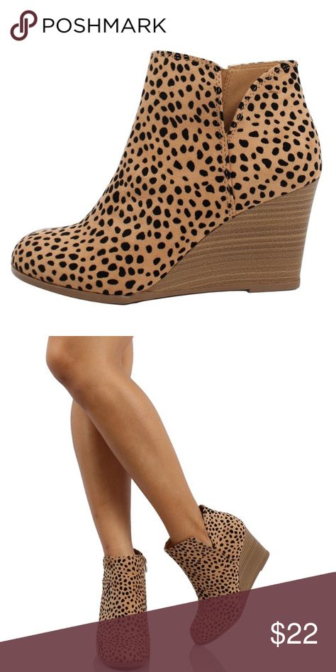 RePosh- Cheetah Wedge Adorable wedges up as a RePosh. Only worn .