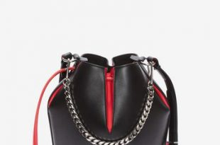 Women's Black/Lust Red The Bucket Bag | Alexander McQue