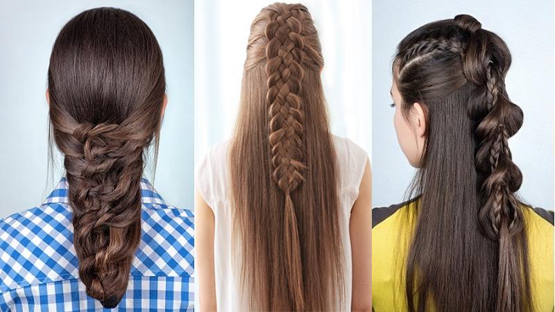 9 Easy and Simple Braided Hairstyles for Long Hair | Styles At Li