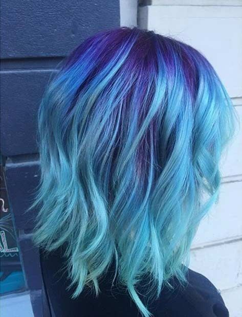 10 fascinating blue hairstyles and color ideas | Light blue hair .