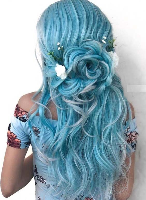 50 Beautiful Blue Hairstyles for All Kinds of Ha