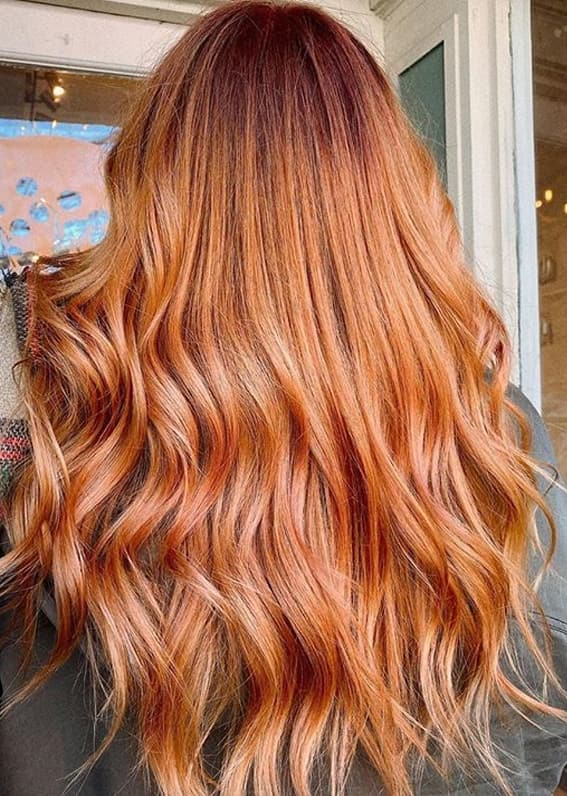 Amazing Combination Of Peach and Copper Hair Colors in 2020 | Stylez