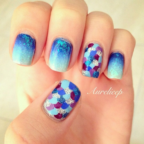 Amazing Fish Scale Nail Ideas