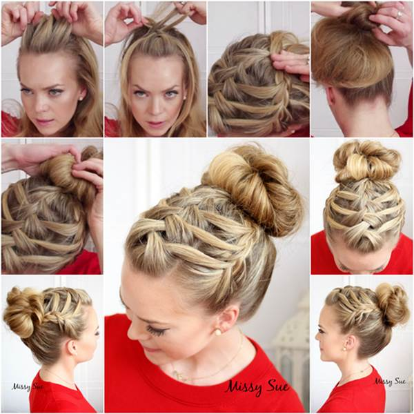 Wonderful DIY Double Waterfall Triple French Braid Hairsty