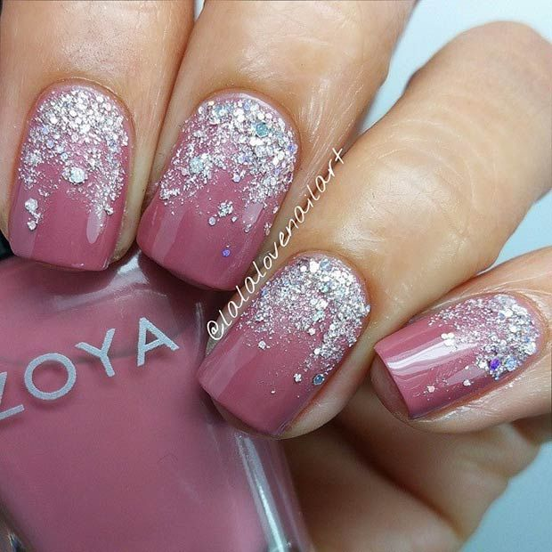 50 Best Nail Art Designs from Instagram | Silver glitter nails .