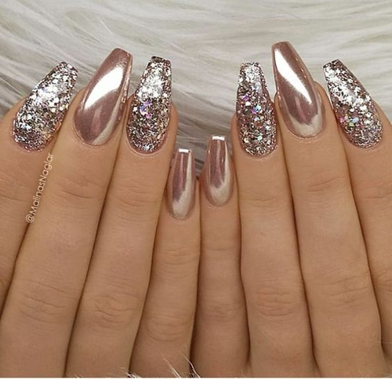 24 Stunning Glitter Nail Art Designs That You Will Love to Try .