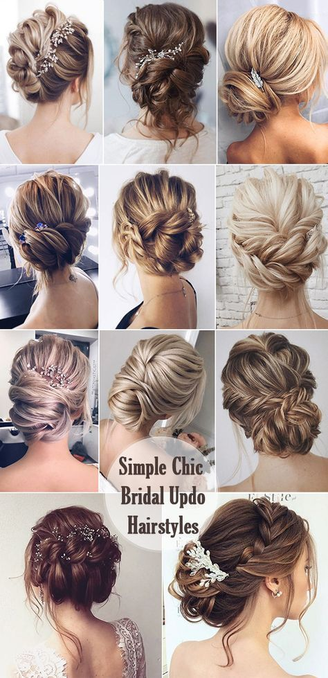 25 Chic Updo Wedding Hairstyles for All Brides #Brides #Chic .