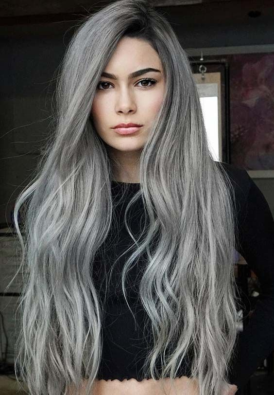 40 Stunning Silver Hair Color Ideas for Long Hair in 2018 | Silver .