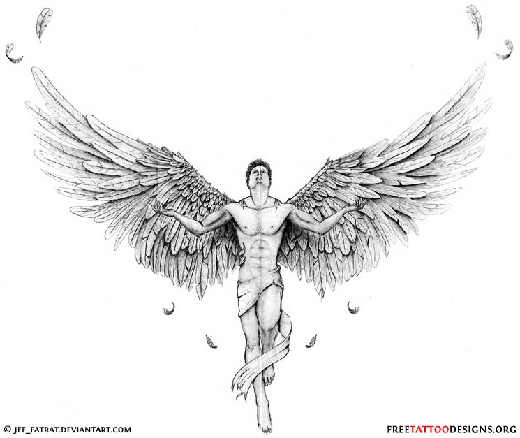 105+ Best Angel Tattoos & Designs With Meanin