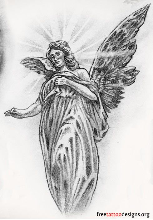 Angel Tattoos | Angel Wings, Guardian Angel and St Michael Designs .
