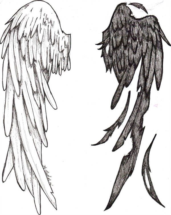 Tattoo design by Azz-And-Spaz (With images) | Wings drawing, Wings .