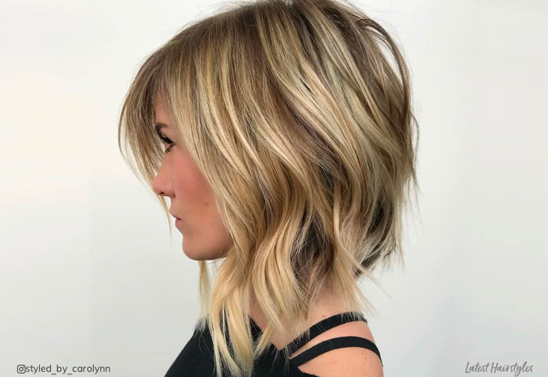 18 Long Angled Bob Hairstyles Trending Now for 20