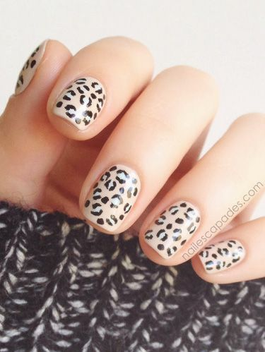 Animal Print Nail Art - Manicure Ideas With Leopard and Animal Pri
