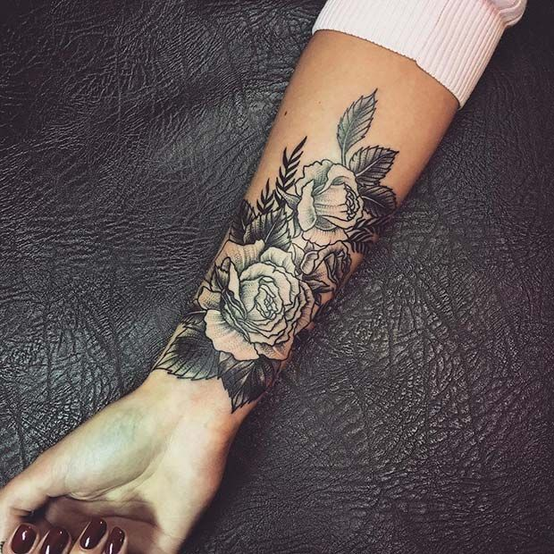 43 Badass Tattoo Ideas for Women | Flower wrist tattoos, Tattoos .
