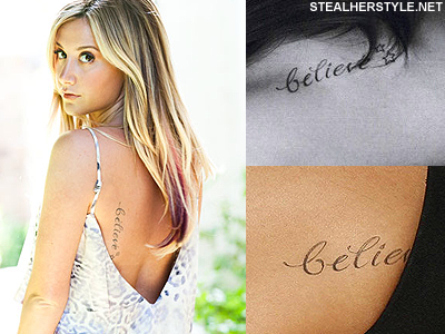 Ashley Tisdale's Tattoos & Meanings | Believe tattoos, Celebrity .