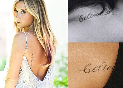 5 Ashley Tisdale Tattoos & Meanings - Celebrity Latest Tattoos .