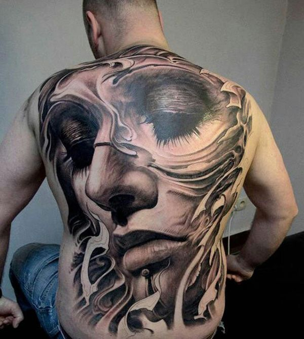 12 Awesome Back Tattoo Ideas - Pretty Desig