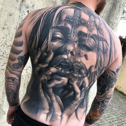 125 Best Back Tattoos For Men | Cool back tattoos, Back tattoos .