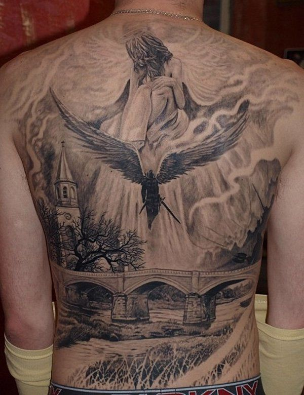 100 Awesome Back Tattoo Ideas for your Inspiration | Full back .