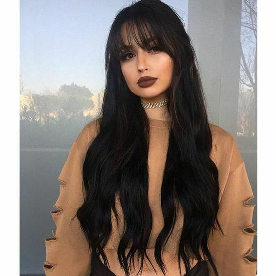 Fashion Synthetic Wig with Bangs Body Wave Wigs Long Hair Full .