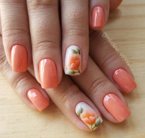 Beautiful Floral Nail Designs