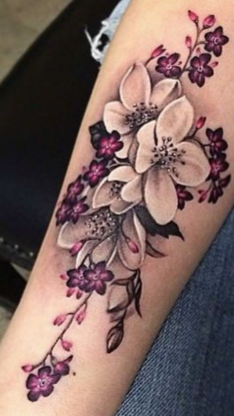 This is such a pretty flower tattoo design! | Pretty flower .