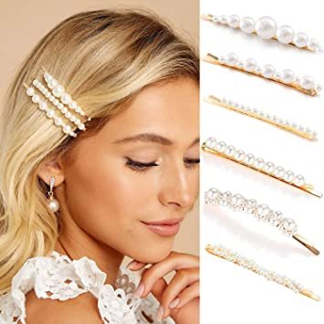 Amazon.com : Gold Pearl Bobby Pins For Women Girls Styling Hair .