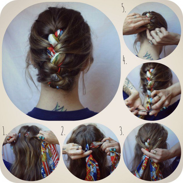 16 Beautiful Hairstyles with Scarf and Bandanna - Pretty Desig