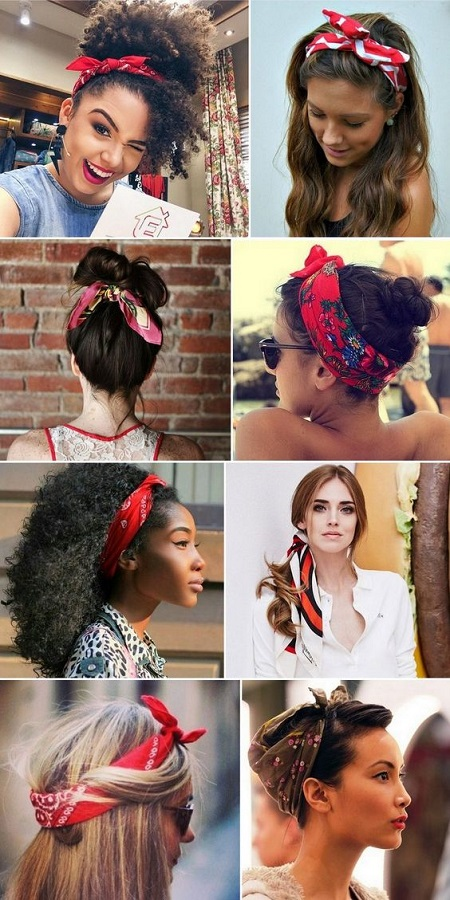 Beautiful Bandana Hairstyles For Teen Gir
