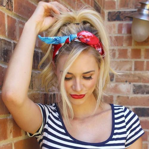 20 Gorgeous Bandana Hairstyles for Cool Gir