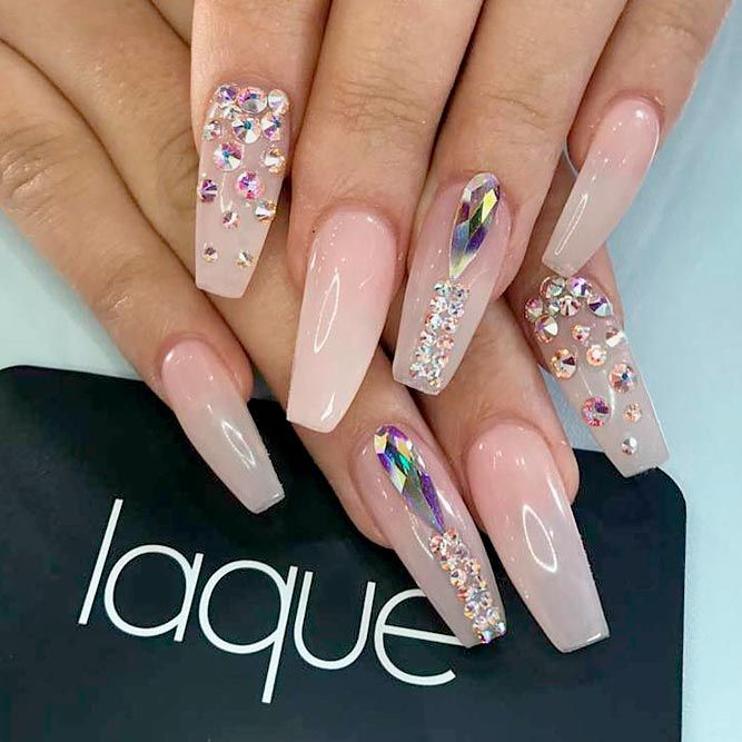 Best Long Nail Designs for Glamorous Girls ☆ See more: https .