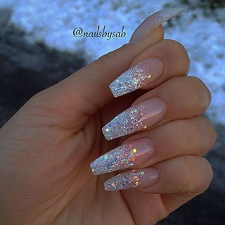 cute waterfall long nail design @callmeniecyx | Cute acrylic nails .