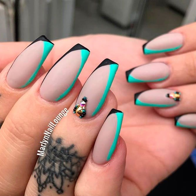 Examples Of Beautiful Long Nails To Inspire You | Coffin nails .