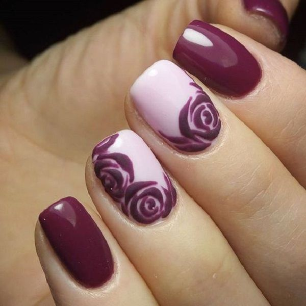 Beautiful Rose Nail Art Designs