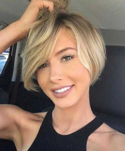 30 Short Haircuts for Round Faces - crazyfor