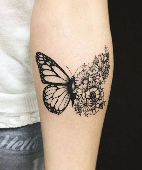 Beautiful Tattoo Design Idea For Women | Tattoos, Butterfly with .