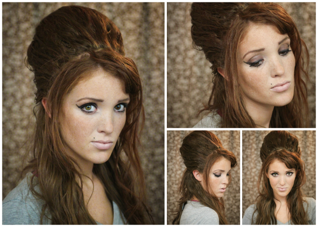 The Freckled Fox: Hair Tutorial// Amy Winehouse + Beehive .