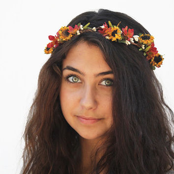 Best Fall Flower Crown Products on Wane