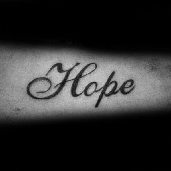 40 Hope Tattoos For Men - Four Letter Word Design Ide