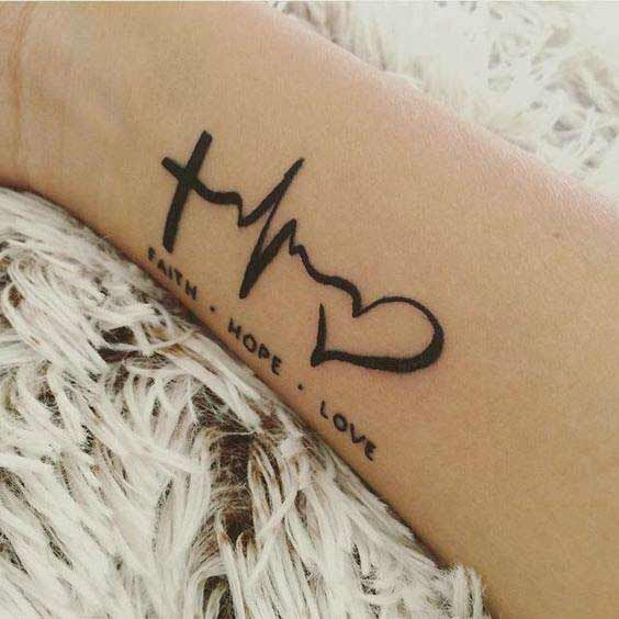 45 Perfectly Cute Faith Hope Love Tattoos And Designs With Best .