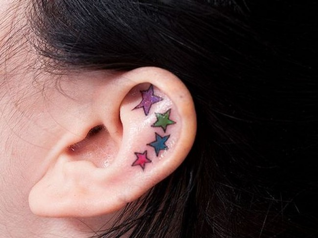 55+ Excellent Mini Ear Tattoo Designs & Meanings- Powerful Ideas .