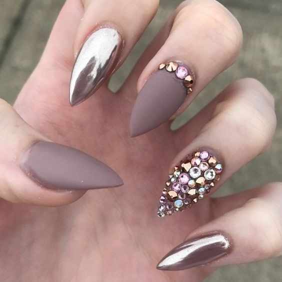 Best Metallic Nail Designs for 2019 – Nail Art Ideas | Metallic .